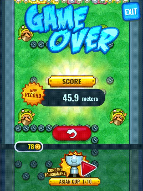 Flappy Foot Chinko Endless Bounce Score Screenshot.