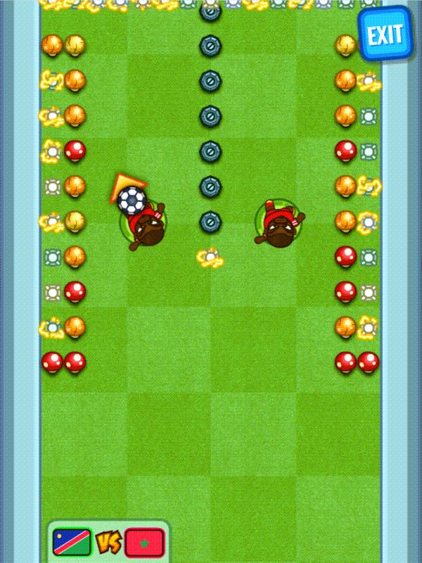 Flappy Foot Chinko Game Screenshot.
