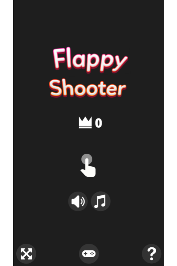 Flappy Shooter Game Welcome Screenshot.