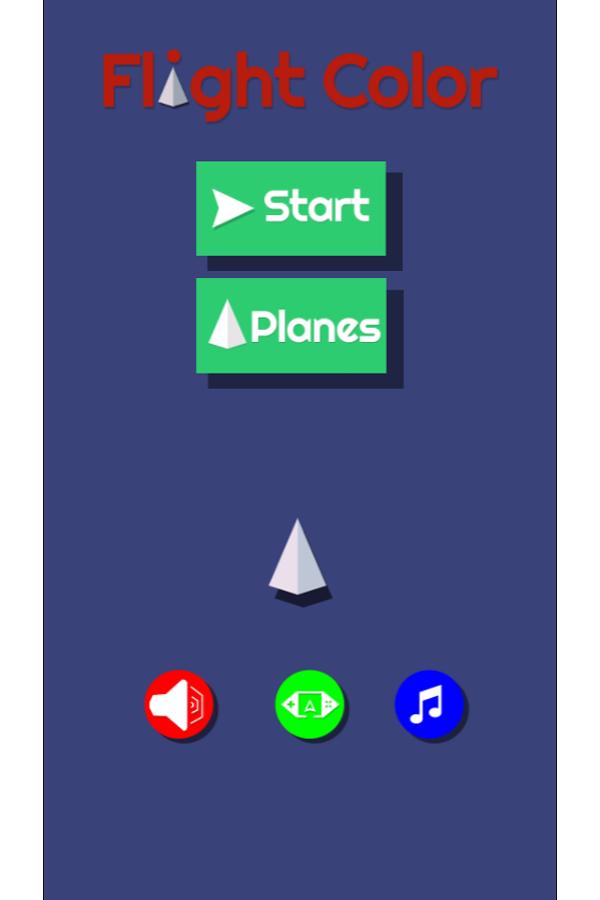 Flight Color Game Welcome Screenshot.
