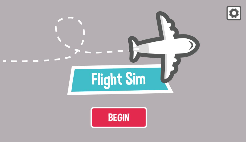 Flight Sim Game Welcome Screenshot.