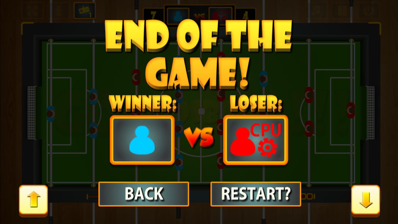 Foosball Game Won Screenshot.
