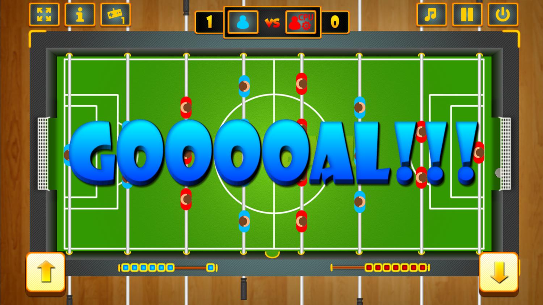 Online Foosball Game Screenshot.