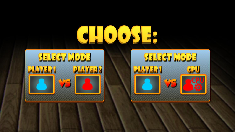 Online Multiplayer Foosball Game Mode Selection Screenshot.