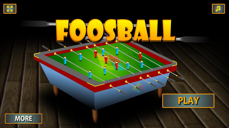 Foosball Game Welcome Screen Screenshot.