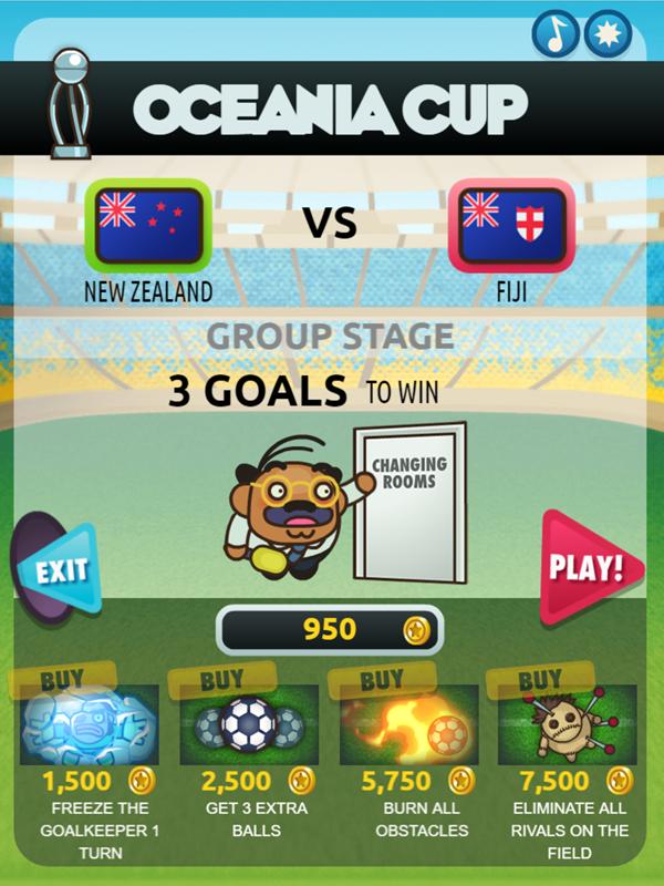 Foot Chinko Oceana Cup Goals Screenshot.