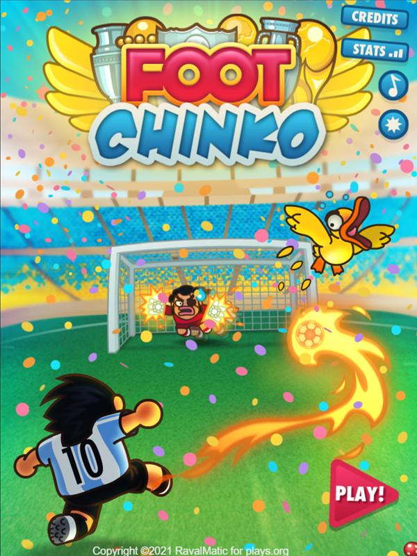 Foot Chinko Welcome Screen Screenshot.