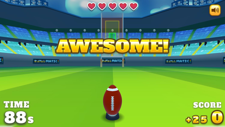 Football Kickoff Game Play Screenshot.