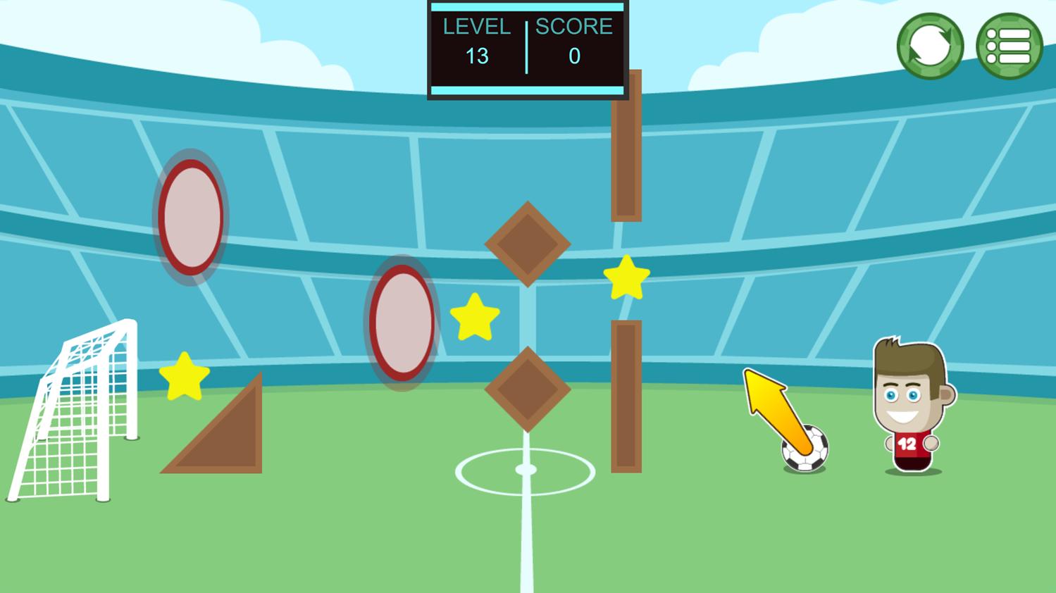 Footstar Game Screenshot.