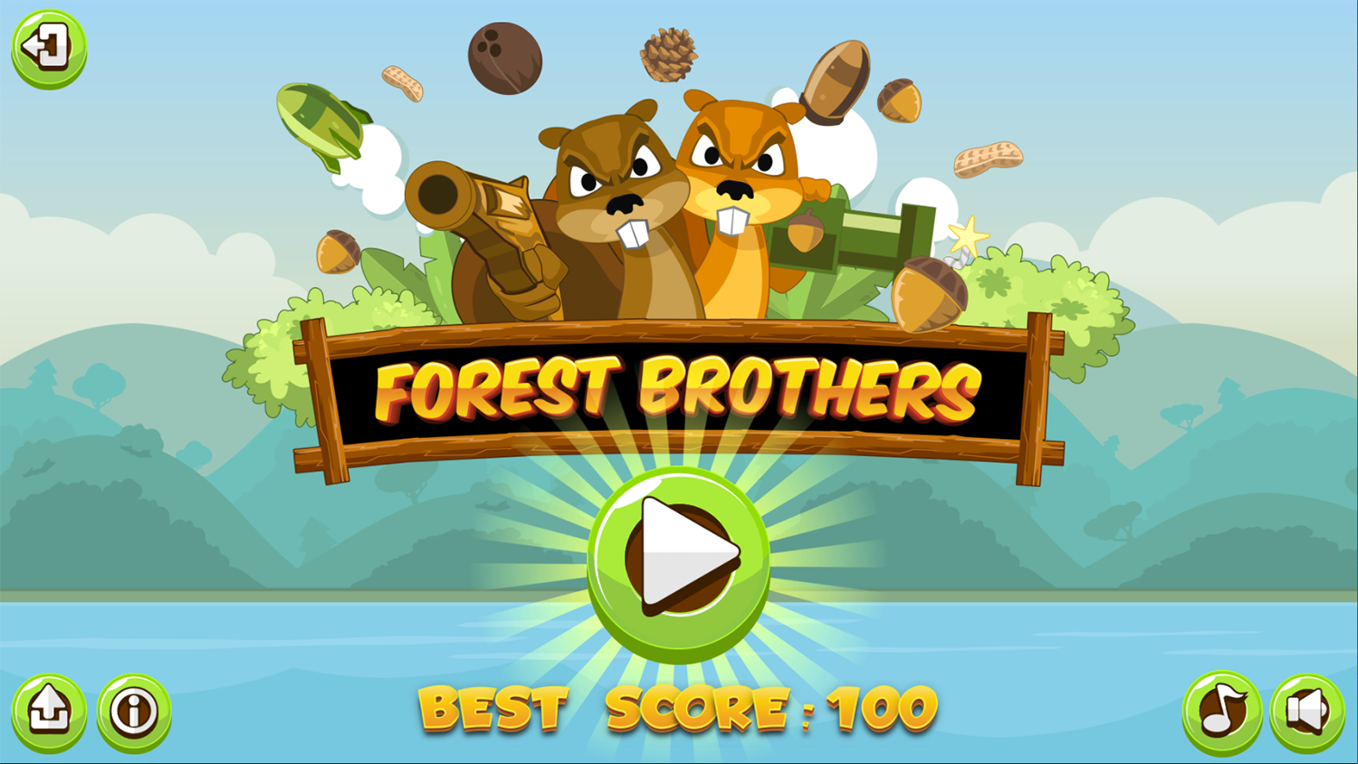 Forest Brothers Welcome Screen Screenshot.