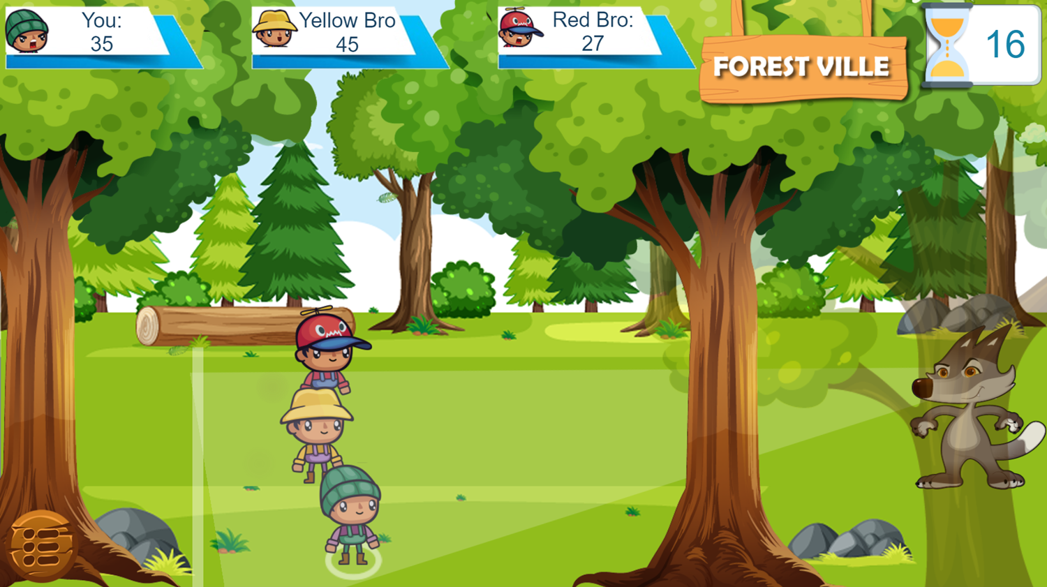 Forest Camp Adventure Game Play Screenshot.