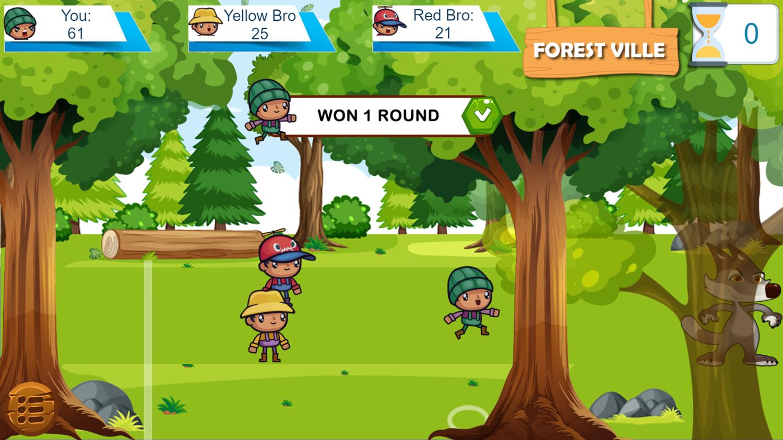 Forest Camp Adventure Game Round Won Screenshot.