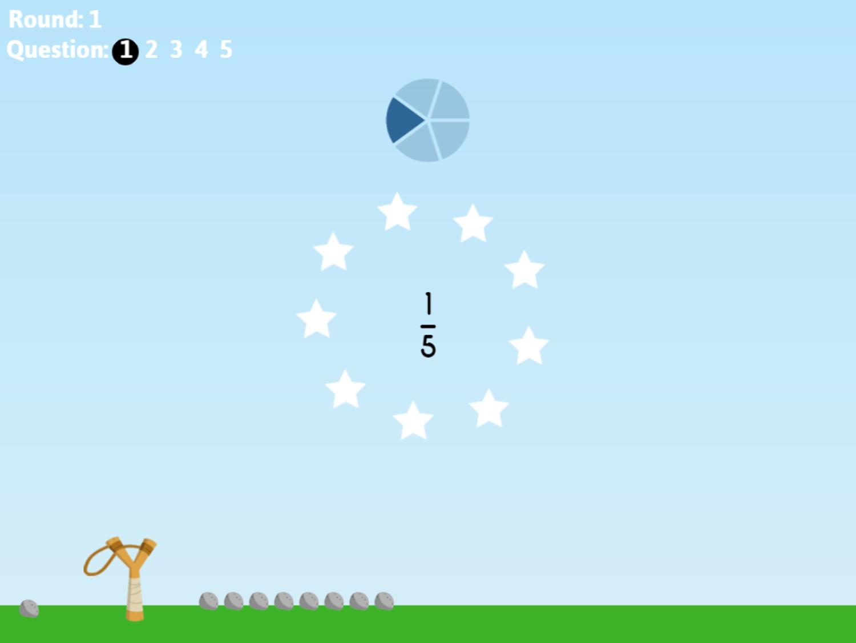 Fraction Fling Game Answer Screenshot.