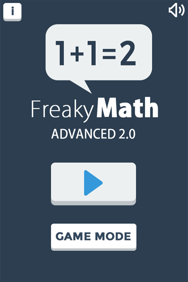 Freaky Math Advanced Welcome Screen Screenshots.