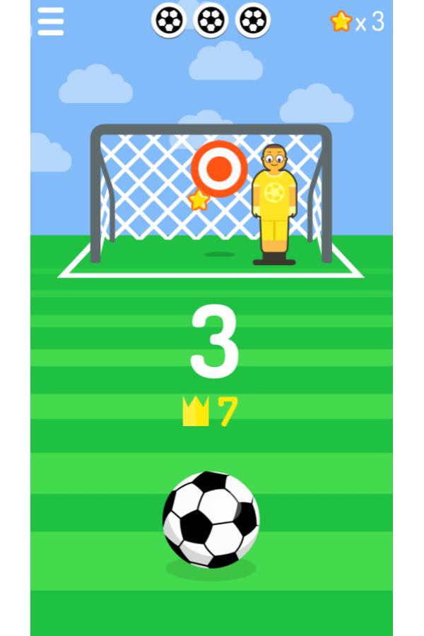 Free Kick Game Screenshot.