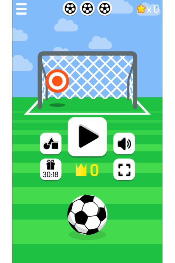 Free Kick Game Welcome Screenshot.