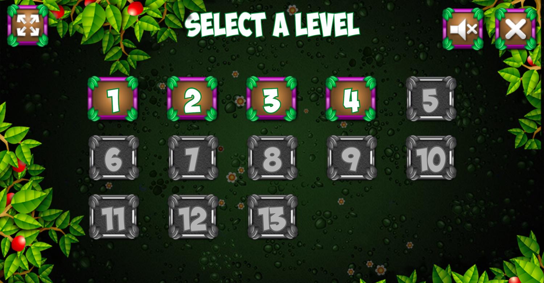 Frogtastic Level Select Screenshot.