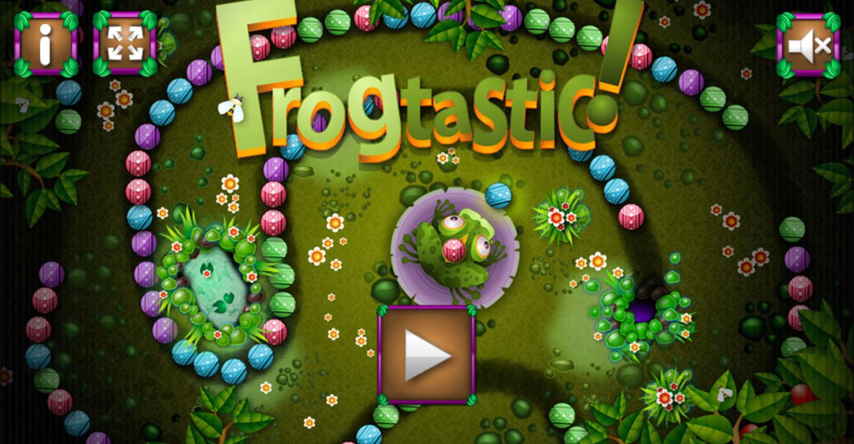Frogtastic Game Welcome Screenshot.
