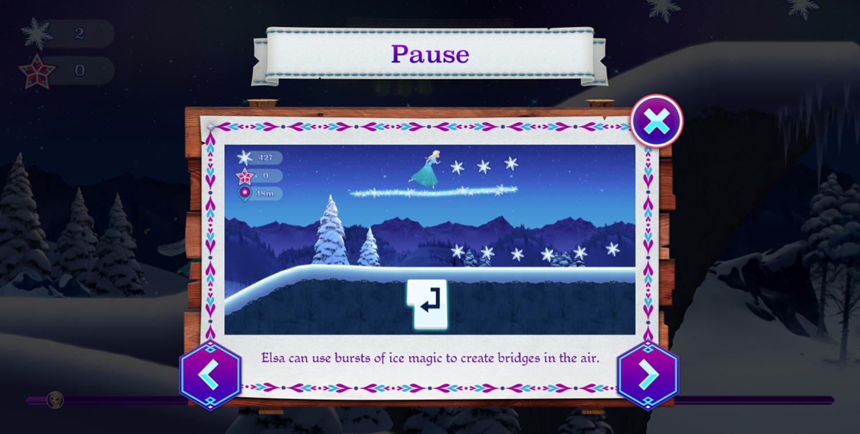 Frozen Rush Game How To Play Elsa Screenshot.