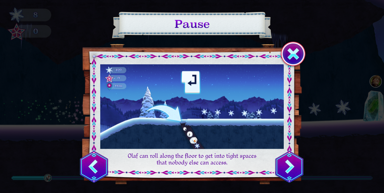 Frozen Rush Game How To Play Olaf Screenshot.