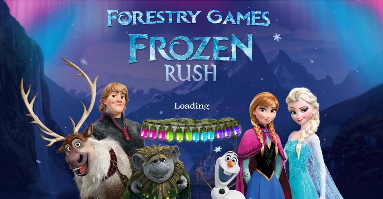 Frozen Rush Game Loading Screen Screenshot.