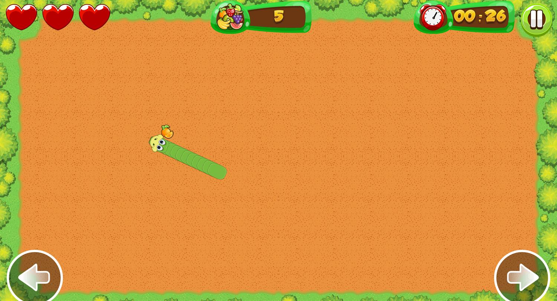 Fruit Snake Game Screenshot.