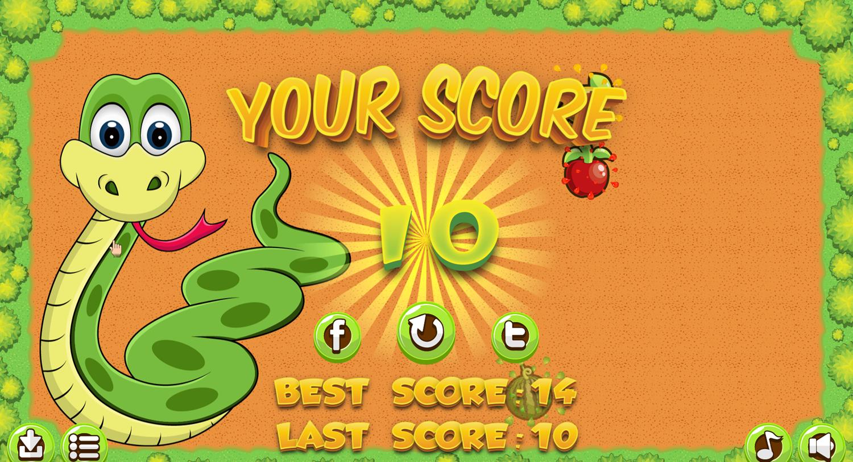 Fruit Snake Game Score Screenshot.