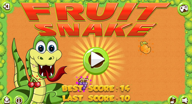 Fruit Snake Welcome Screen Screenshot.