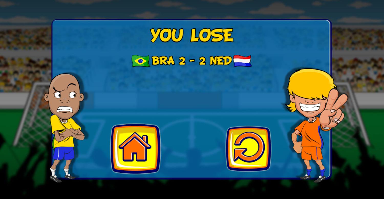 Funny Soccer Lose Screenshot.