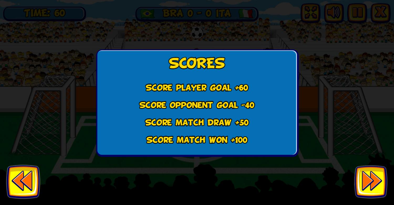 Funny Soccer Scoring Screenshot.
