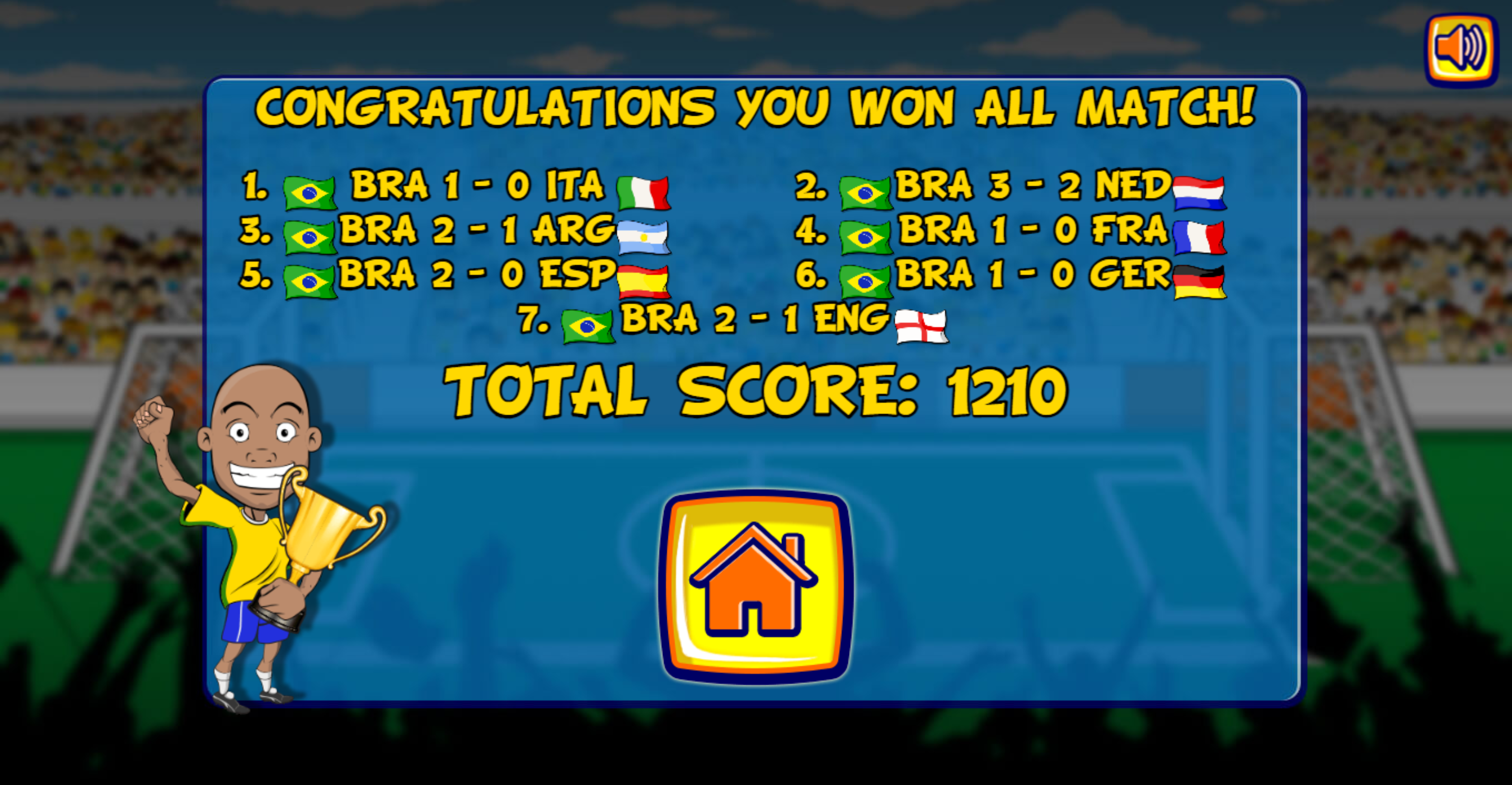 Funny Soccer Win Screenshot.