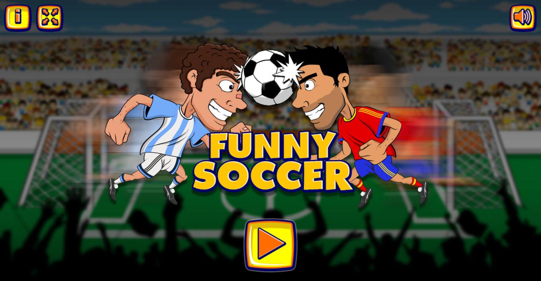 Funny Soccer Game Welcome Screenshot.