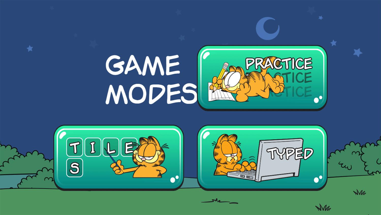Garfield Sentences Game Game Mode Screenshot.