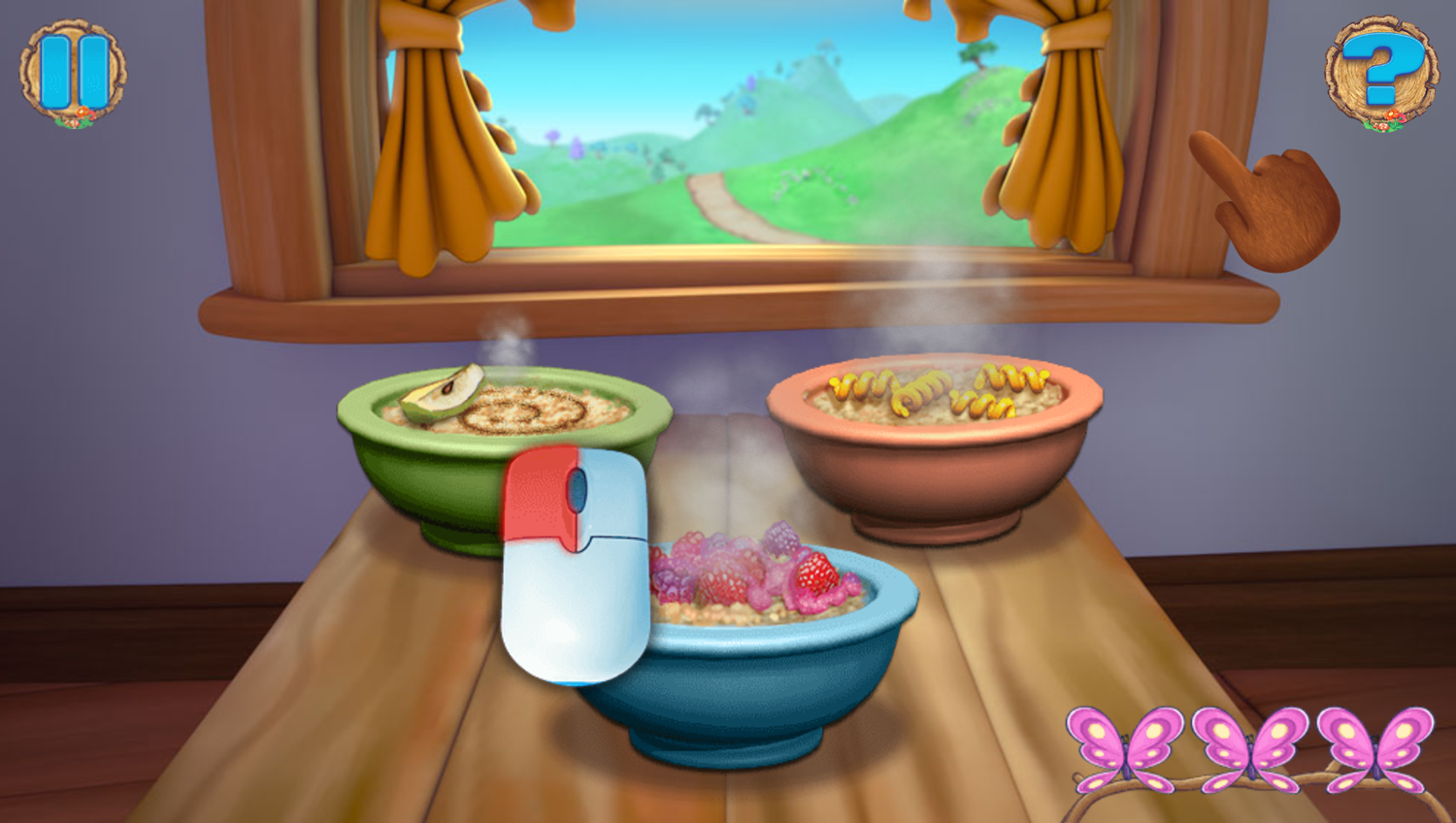 Goldie and Bear Fairy Tale Forest Adventures Game Food Blowing How To Play Screenshot.