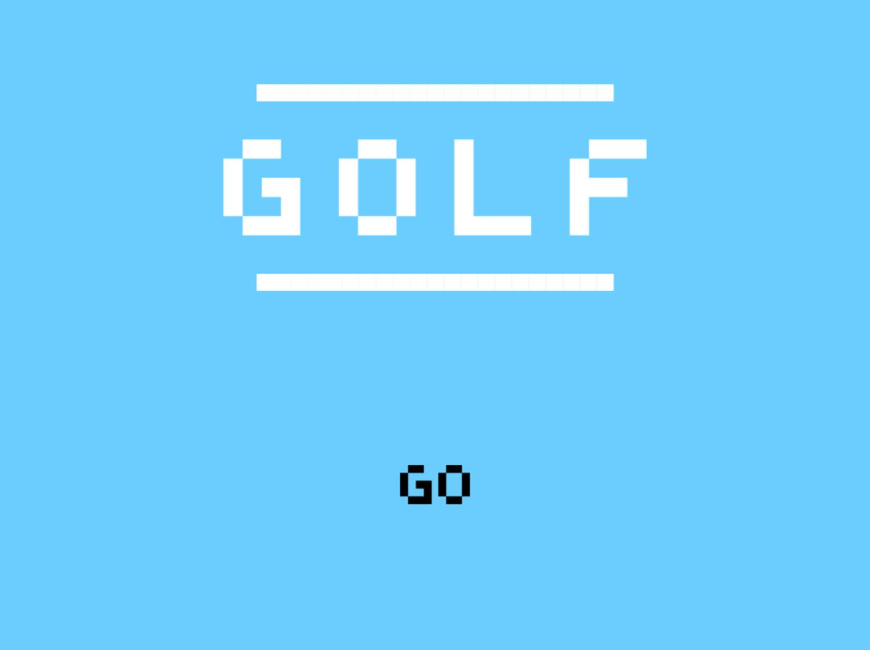 Golf Game Welcome Screen Screenshot.