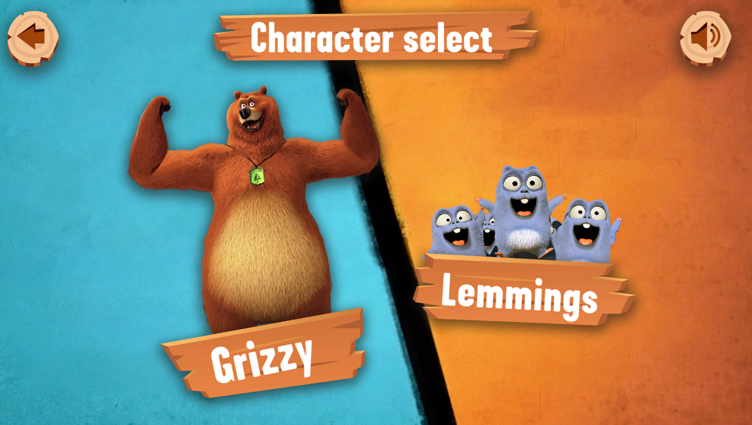 Grizzy and the Lemmings Yummy Run Game Welcome Screen Screenshot.