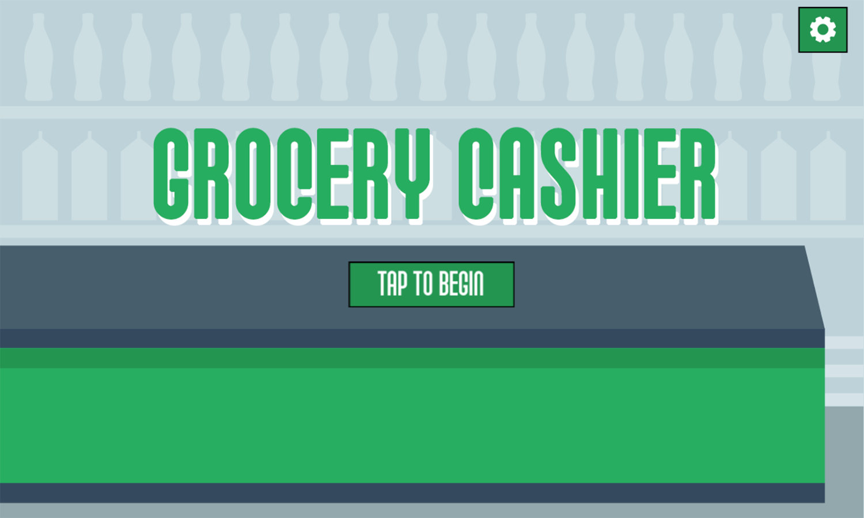 Grocerie Cashier Welcome Screen Screenshots.
