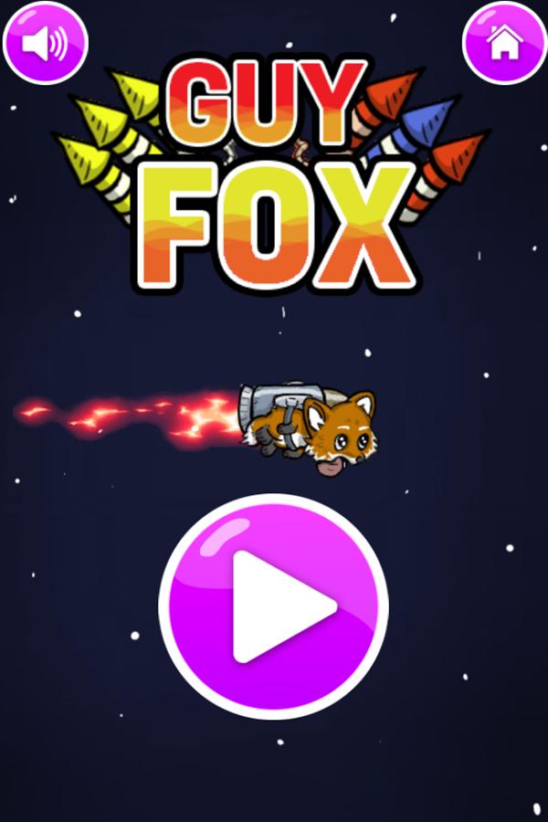 Guy Fox Game Welcome Screen Screenshot.