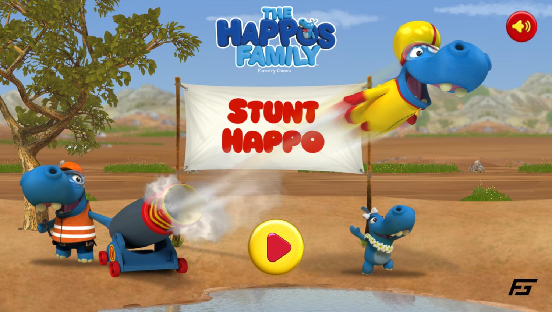 The Happos Family Stunt Happo Game Welcome Screen Screenshot.