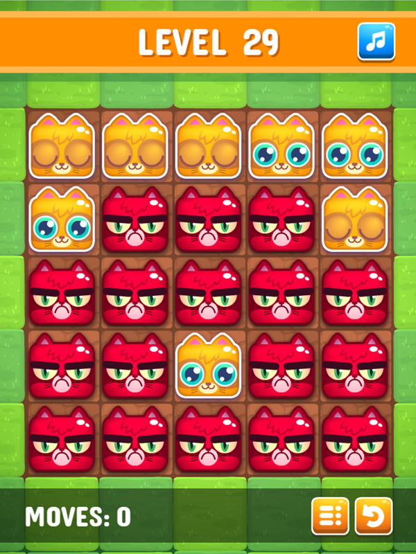 Happy Kittens Puzzle Game Screenshot.