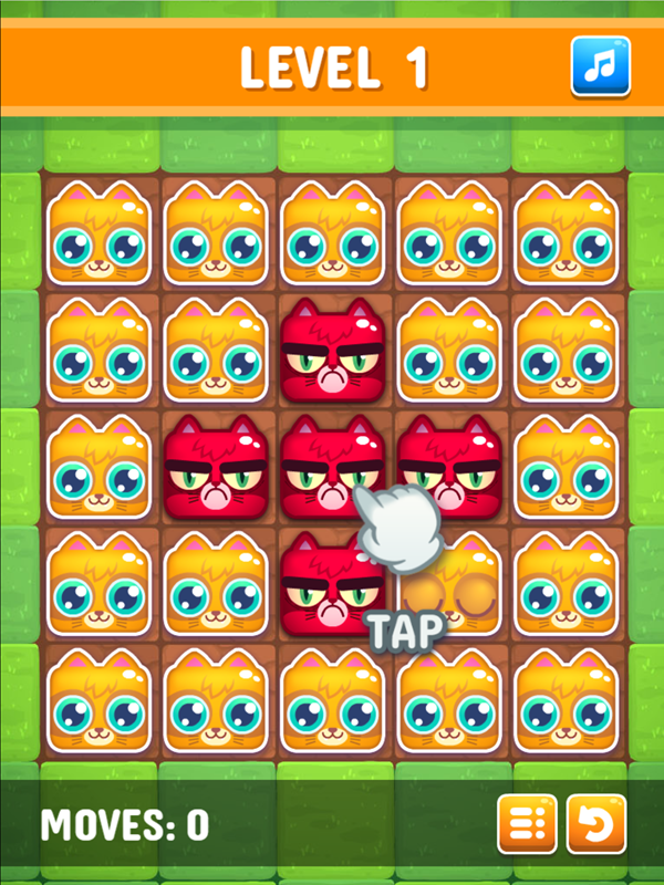 Happy Kittens Puzzle Game Introduction Screen Screenshot.