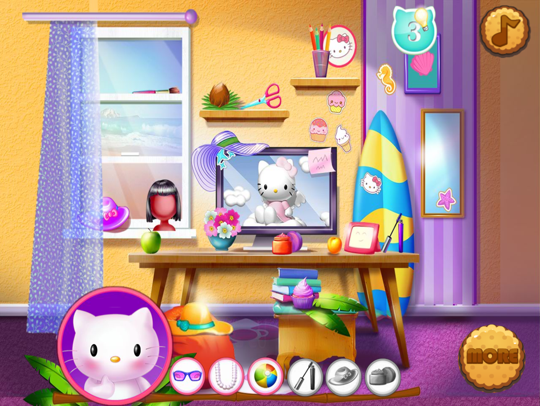 Hello Kitty Beach Fun Game Play Screenshot.