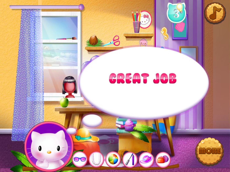 Hello Kitty Beach Fun Game Stage Complete Screenshot.