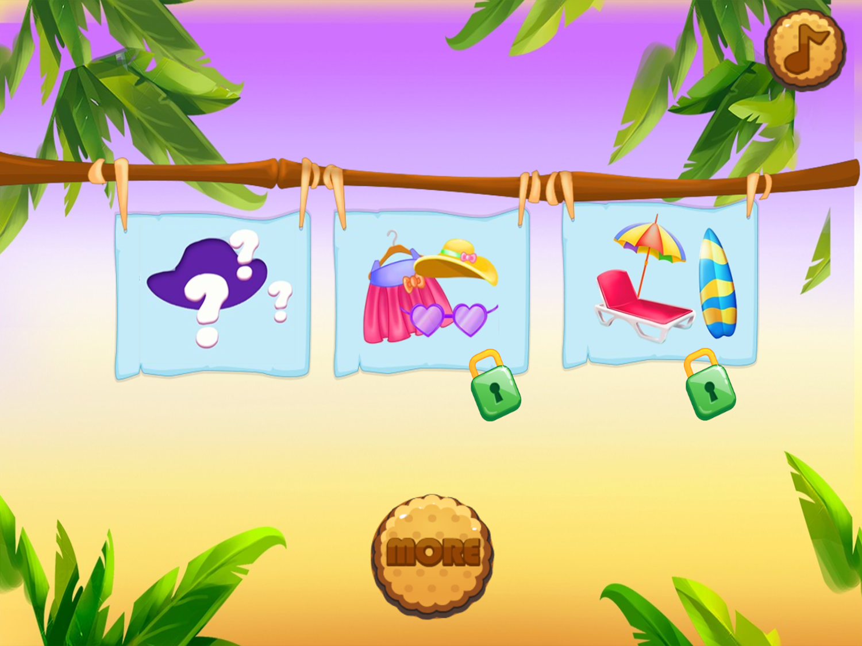 Hello Kitty Beach Fun Game Stage Select Screenshot.