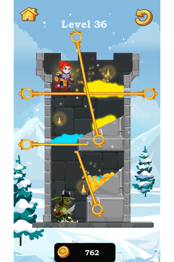 Hero Rescue Game Screenshot.
