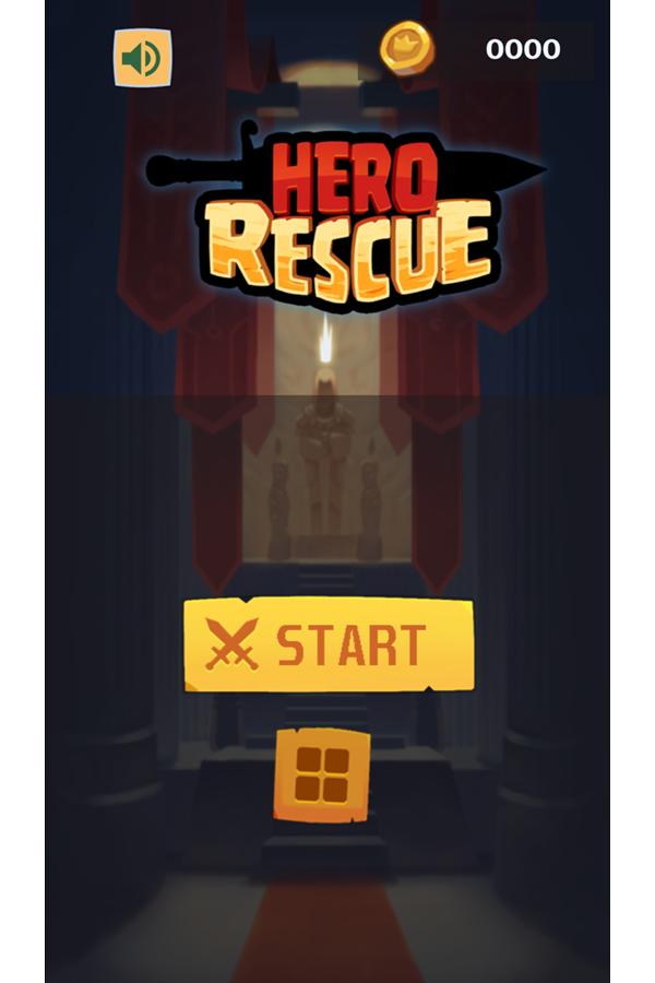 Hero Rescue Game Welcome Screenshot.