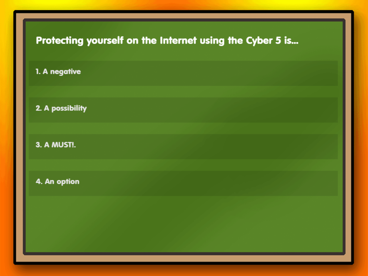 Hippo and Hedgehog in Cyber Five Game First Question Screenshot.