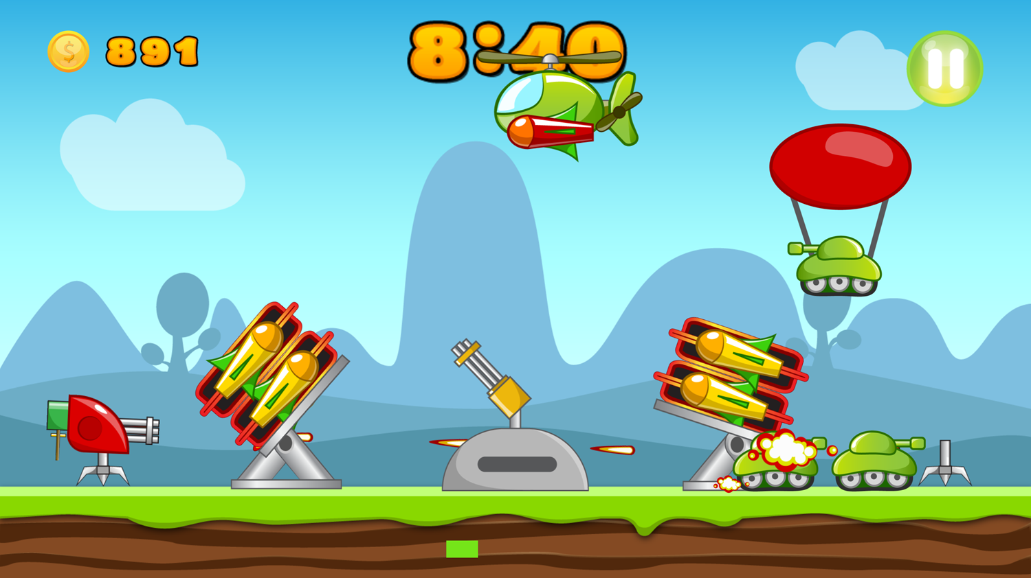 Hold Position Game Screenshot.
