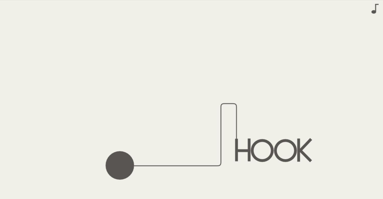 Hook Game Welcome Screen Screenshot.
