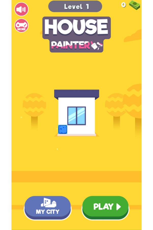 House Painter Welcome Screen Screenshot.